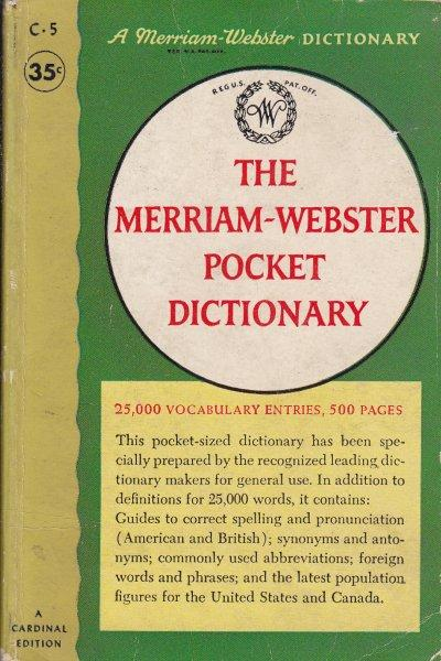 THE MERRIAM WEBSTER POCKET DICTIONARY