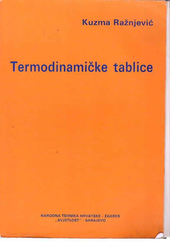 TERMODINAMIČKE TABLICE